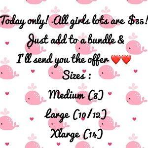 Today only! All girl lots are $35!